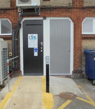 DAS rear entrance