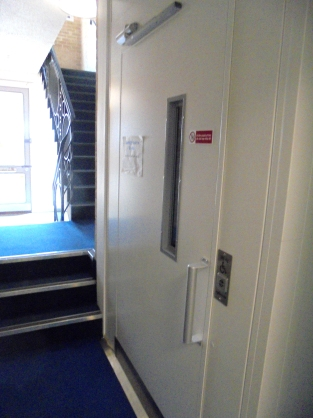 Lift viewed from rear entrance