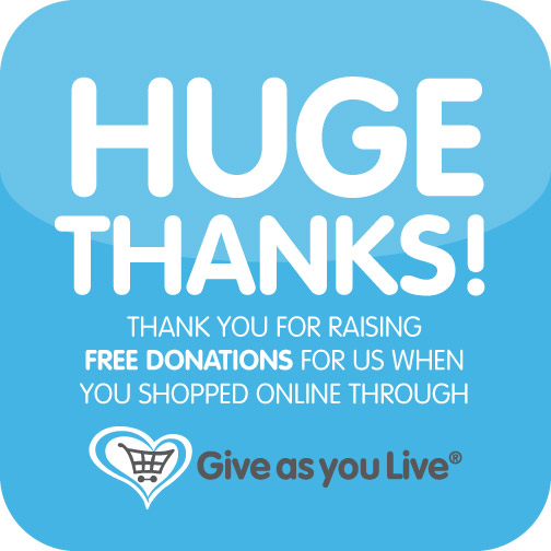 Give as you Live thank you graphic
