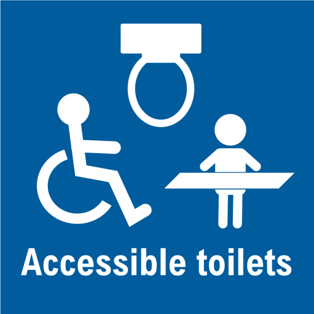 Accessible toilets graphic