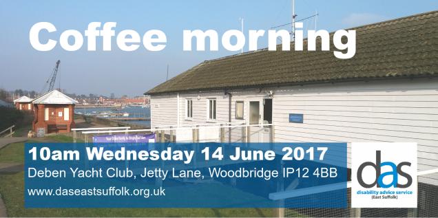 Coffee morning Deben Yacht Club Woodbridge banner