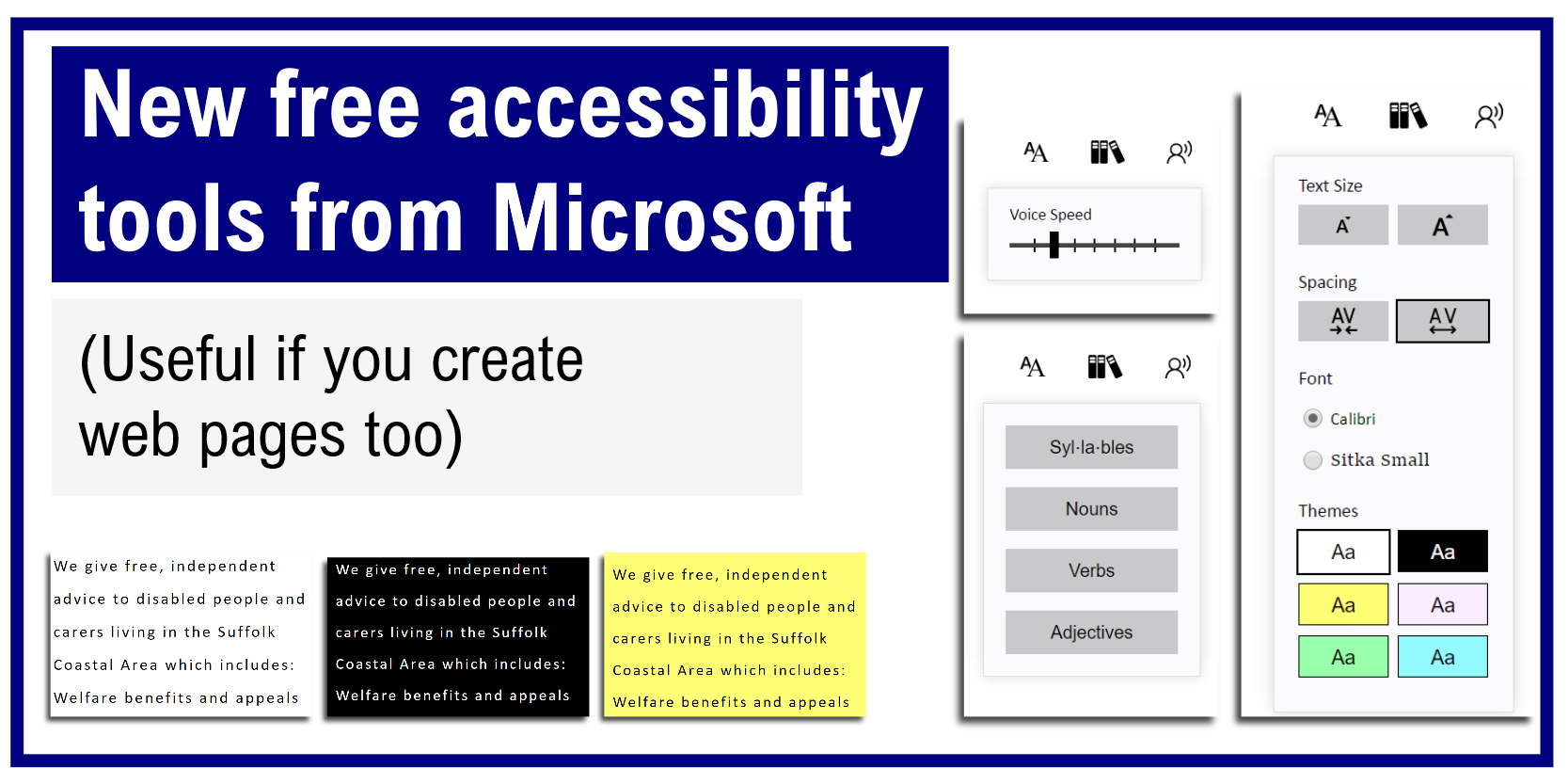 Microsoft launch new free accessibility tools useful if New website create free online