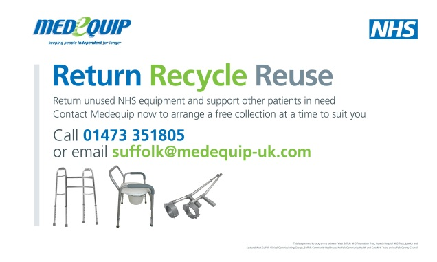 NHS Return, Recycle, Reuse banner