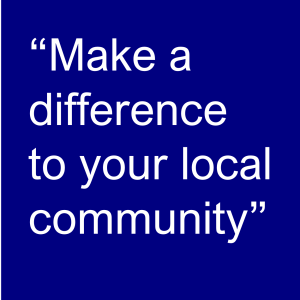 Make a difference to your local community graphic