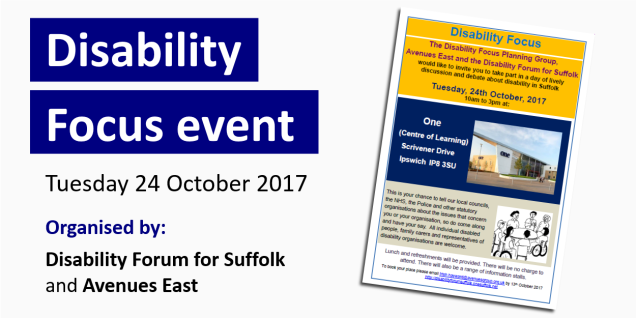 Disability Focus event graphic
