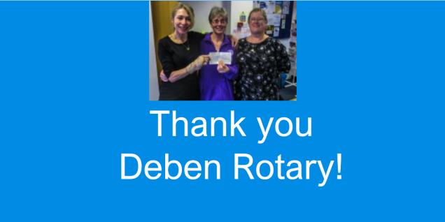 Thank you Deben Rotary